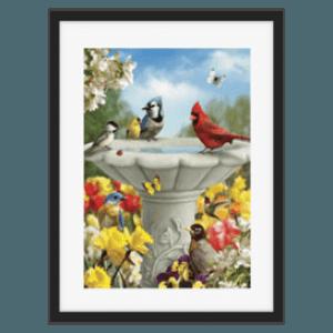 Alan Giana- Scenic Landscape Artist - Spring Time Bird bath