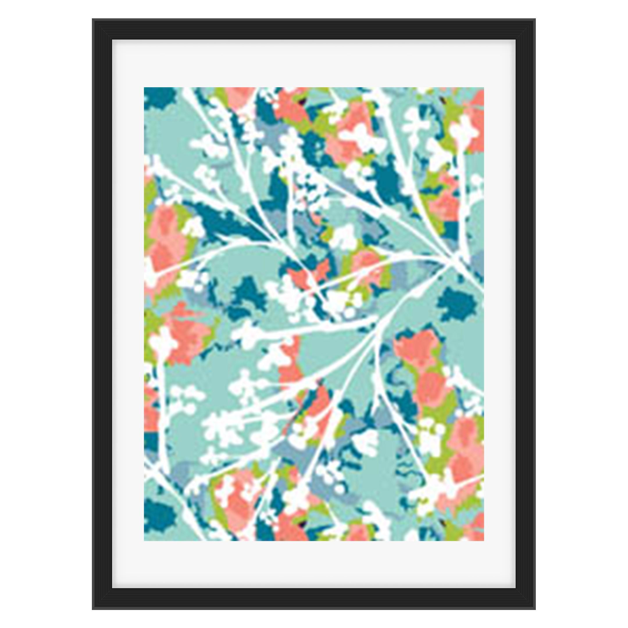 Sue C. Brown- Textile Art Prints- simple flower outline pattern