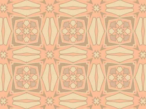 Sue C. Brown- Textile Art Prints- muted tribal pattern