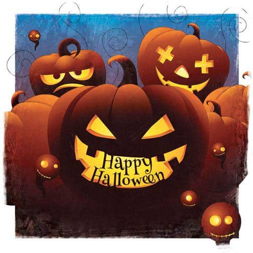 Happy Halloween Spooky Illustrations by Marcin Poludniak