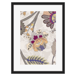 Elegant Floral pattern with dainty modern colors of peaches and pink designed by Monica Kapur