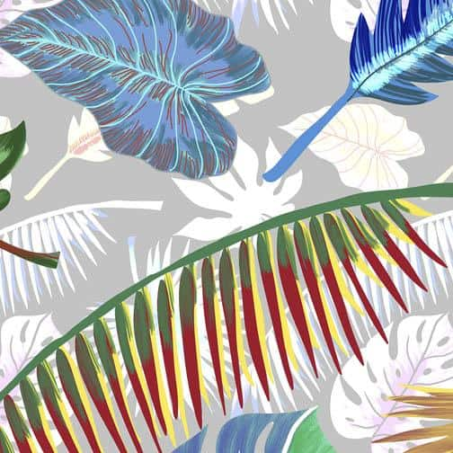 Tropical inspired designed by Indian Culture Influenced Pattern and textile Designer