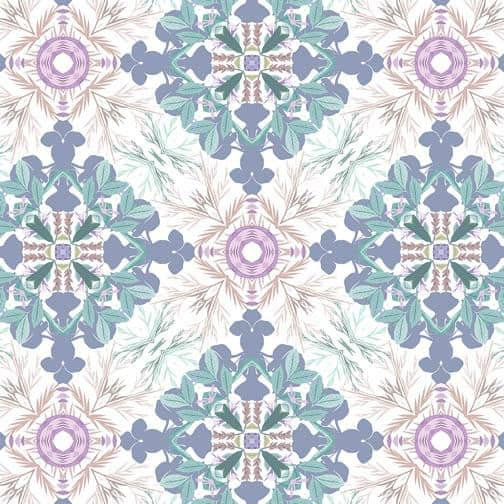Brilliant Symmetrical mosaic textile for home decor and fabrics designed by Monica Kapur