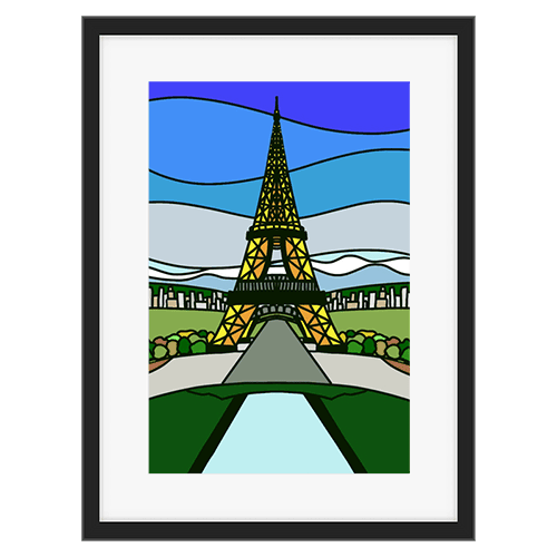 Eifel Tower Stained Glass Design Stacey Lokey