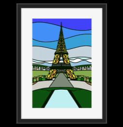 Eifel Tower Stained Glass Design Stacey Lokey